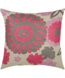 RugStudio presents Rizzy Pillows T03483 Pink / Gray