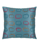 RugStudio presents Rizzy Pillows T03569 Peacock Blue / Multi
