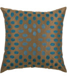 RugStudio presents Rizzy Pillows T03575 Peacock Blue / Brown