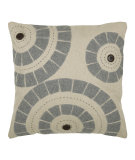 RugStudio presents Rizzy Pillows T03583 Natural / Gray