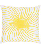 RugStudio presents Rizzy Pillows T03584 Yellow / White