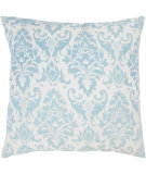 RugStudio presents Rizzy Pillows T03594 Aqua / Off White
