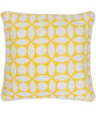 RugStudio presents Rizzy Pillows T03599 Yellow / White