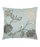 RugStudio presents Rizzy Pillows T03778 Aqua / Gray