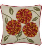 RugStudio presents Rizzy Pillows T03783 Orange / Natural