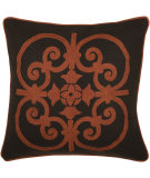 RugStudio presents Rizzy Pillows T03827 Rust / Brown
