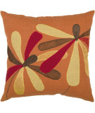 RugStudio presents Rizzy Pillows T03833 Orange / Red