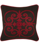 RugStudio presents Rizzy Pillows T03834 Red / Brown