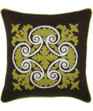RugStudio presents Rizzy Pillows T03844 Green / Brown
