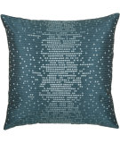 RugStudio presents Rizzy Pillows T03887 Peacock Blue / Teal