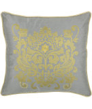 RugStudio presents Rizzy Pillows T03892 Silver / Yellow
