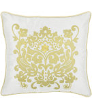 RugStudio presents Rizzy Pillows T03893 Yellow / White