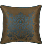 RugStudio presents Rizzy Pillows T03894 Peacock Blue / Brown