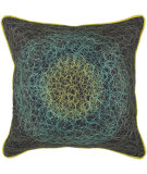 RugStudio presents Rizzy Pillows T03920 Peacock Blue / Charcoal