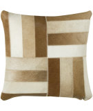 RugStudio presents Rizzy Pillows T03977 Brown / Off White