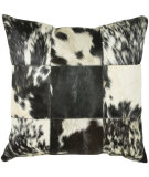 RugStudio presents Rizzy Pillows T03978 Black / Off White