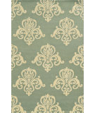 RugStudio presents Rizzy Vicki Payne Vp8247 Light Blue/Ivory Hand-Tufted, Good Quality Area Rug