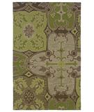 RugStudio presents Rizzy Country CT-910 Green Hand-Tufted, Good Quality Area Rug