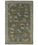 RugStudio presents Rizzy Floral FL-124 Green Hand-Tufted, Good Quality Area Rug