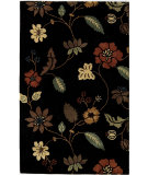 RugStudio presents Famous Maker Tufted 54970 Tropical Black Hand-Tufted, Good Quality Area Rug