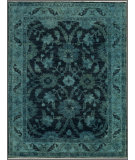 RugStudio presents Rugstudio Overdyed 444187-616 Blue Hand-Knotted, Best Quality Area Rug