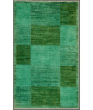 RugStudio presents Rugstudio Overdyed 444191-616 Green Hand-Knotted, Good Quality Area Rug