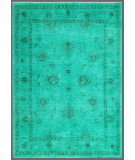 RugStudio presents Rugstudio Overdyed 449414-616 Green Hand-Knotted, Good Quality Area Rug
