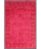RugStudio presents Rugstudio Overdyed 449415-616 Pink Hand-Knotted, Good Quality Area Rug