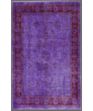 RugStudio presents Rugstudio Overdyed 449425-616 Purple Hand-Knotted, Good Quality Area Rug