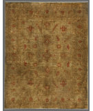 RugStudio presents Rugstudio Overdyed 449429-616 Green-Gold Hand-Knotted, Good Quality Area Rug
