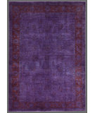 RugStudio presents Rugstudio Overdyed 449442-616 Purple Hand-Knotted, Good Quality Area Rug