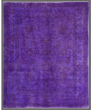 RugStudio presents Rugstudio Overdyed 449446-616 Purple Hand-Knotted, Good Quality Area Rug