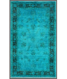 RugStudio presents Rugstudio Overdyed 449449-616 Blue Hand-Knotted, Good Quality Area Rug