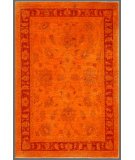 RugStudio presents Rugstudio Overdyed 449451-616 Orange Hand-Knotted, Good Quality Area Rug