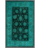 RugStudio presents Rugstudio Overdyed 449453-616 Green Hand-Knotted, Good Quality Area Rug