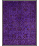RugStudio presents Rugstudio Overdyed 451787-616 Purple Hand-Knotted, Good Quality Area Rug