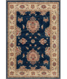 RugStudio presents Rugstudio Farhan 458052-616 Blue / Beige Hand-Knotted, Good Quality Area Rug