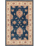 RugStudio presents Rugstudio Farhan 458151-616 Blue / Beige Hand-Knotted, Good Quality Area Rug
