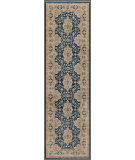 RugStudio presents Rugstudio Tabriz 458969-616 Blue / Beige Hand-Knotted, Good Quality Area Rug