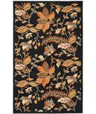 RugStudio presents Safavieh Blossom BLM913B Black / Multi Hand-Hooked Area Rug