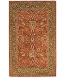 RugStudio presents Safavieh Classic CL249B Rust / Green Hand-Tufted, Best Quality Area Rug
