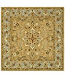 RugStudio presents Safavieh Classic CL387A Beige / Light Blue Hand-Tufted, Good Quality Area Rug