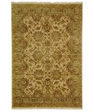 RugStudio presents Rugstudio Sample Sale 49796R Beige / Green Hand-Knotted, Better Quality Area Rug
