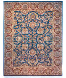 RugStudio presents Rugstudio Sample Sale 46669R Navy / Red Hand-Knotted, Good Quality Area Rug