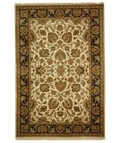 RugStudio presents Safavieh Dynasty DY219A Beige / Black Hand-Knotted, Better Quality Area Rug