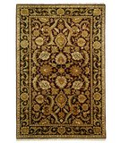 RugStudio presents Safavieh Dynasty DY244A Burgundy / Black Hand-Knotted, Better Quality Area Rug