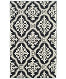 RugStudio presents Rugstudio Sample Sale 46666R Black Hand-Hooked Area Rug