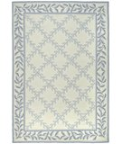 RugStudio presents Safavieh DuraRug EZC430A Ivory / Light Blue Hand-Hooked Area Rug