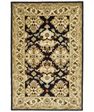 RugStudio presents Safavieh Heritage HG817A Black / Ivory Hand-Tufted, Best Quality Area Rug