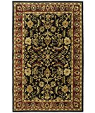 RugStudio presents Safavieh Heritage HG953A Black / Red Hand-Tufted, Best Quality Area Rug
